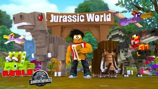 ROBLOX JURASSIC WORLD - DONUT BUILDS THE BEST SCARIEST JURASSIC WORLD EVER!!