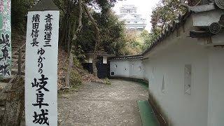 金華山山頂にある岐阜城です。 現存天守閣ではありませんが、金華山の険...