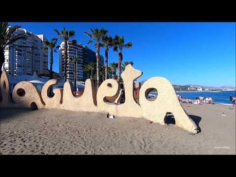 Malaga - Playa De La Malagueta | Full Walk Along La Malagueta Beach | Walking Tour | May 2019