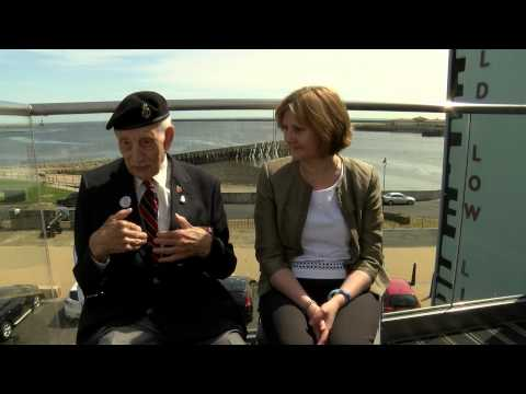 Alison Spedding & 91 year old Jack Watson 70th Anniversary of VE Day - 8 May 2015