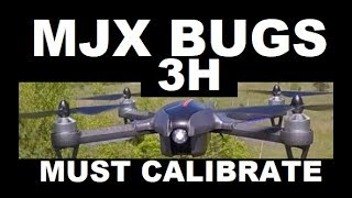 MJX BUGS 3H Great Drone MUST CALIBRATE Brushless Altitude hold RC DRONE REVIEW