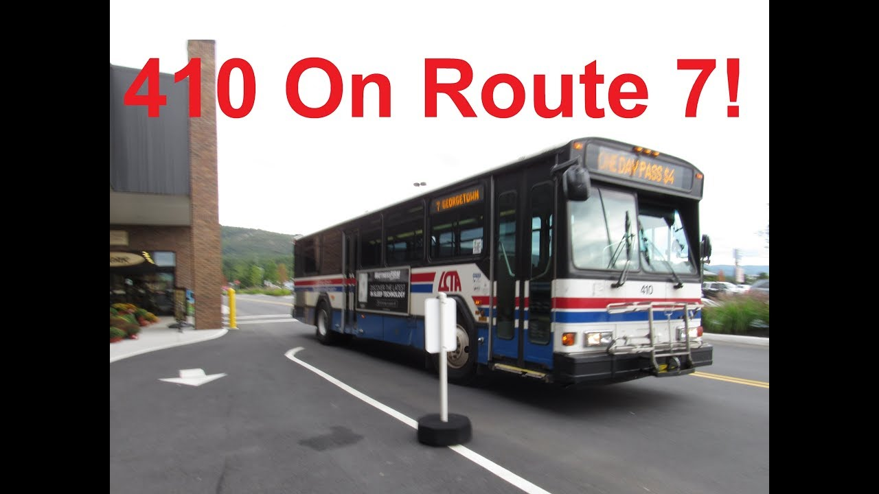 NeoplanDude LCTA 2004 Gillig Phantom #410 On Route 7, To Georgetown!