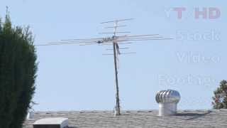 analog digital outdoor tv antenna models for hd sd signal reception   hd stock video footage