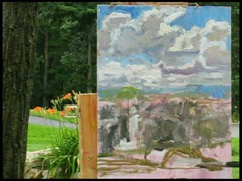 "Plein Air Oil Painting Demo ""View Along Crestview"" Watch in HQ (High Quality) by Ramona Dooley"