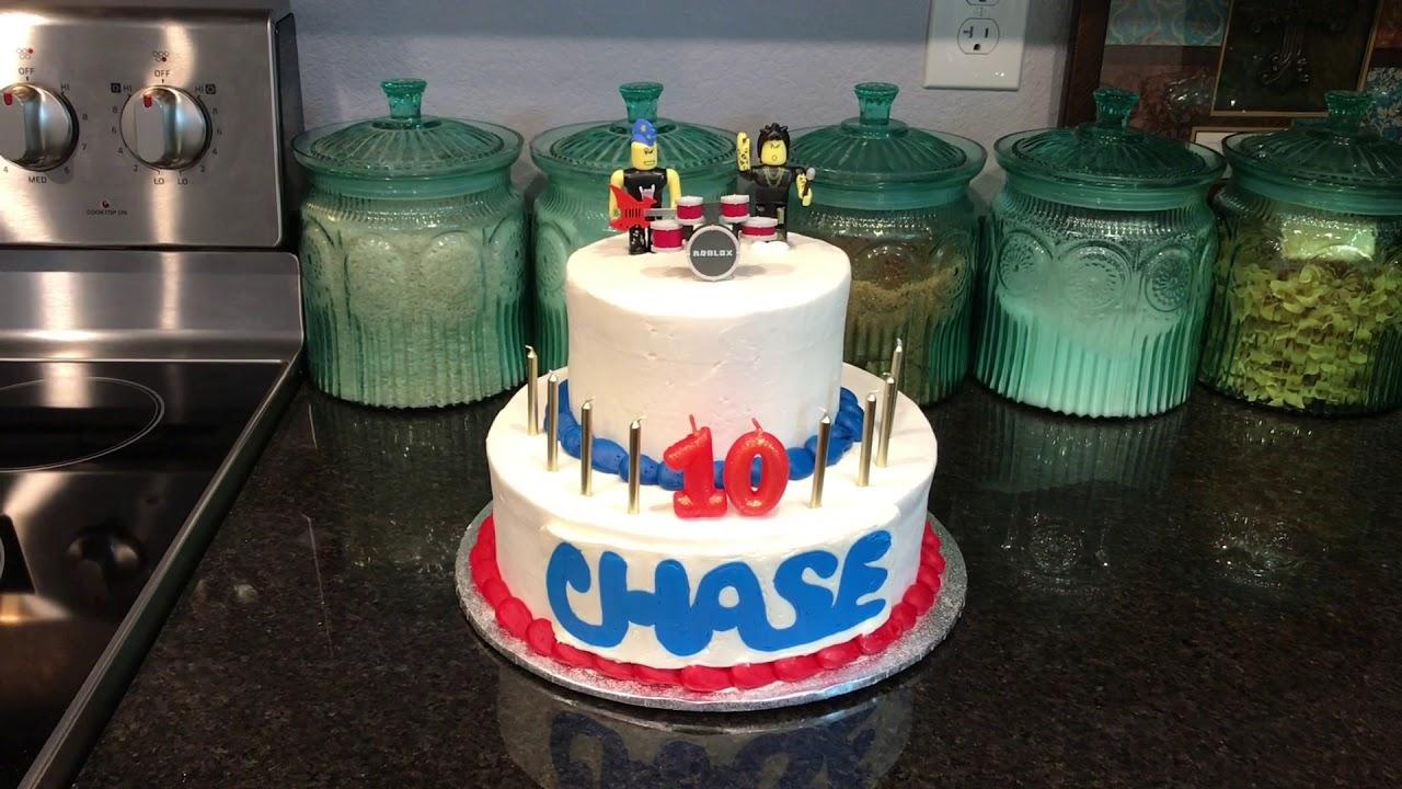 Chase S 10th Birthday Cake Roblox Birthday Youtube