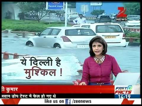 Water logging in New Delhi After heavy Rainfall