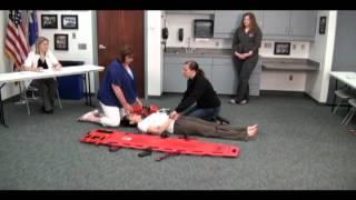 emt emr long spine board skill station 2012