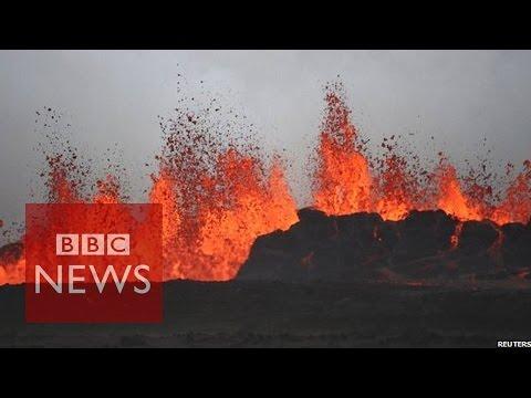 Iceland's Bardarbunga volcano continues dramatic lava eruption - BBC News