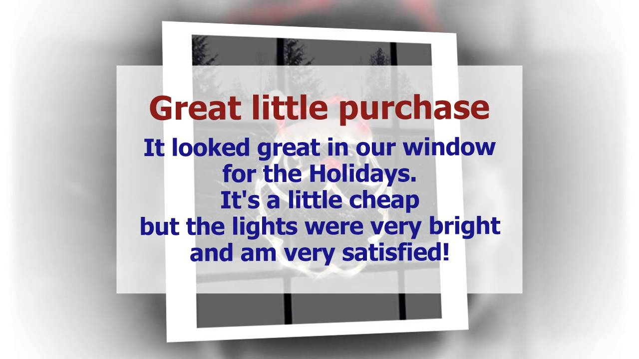 lighted window decoration santa face cute product impact innovations christmas lighted