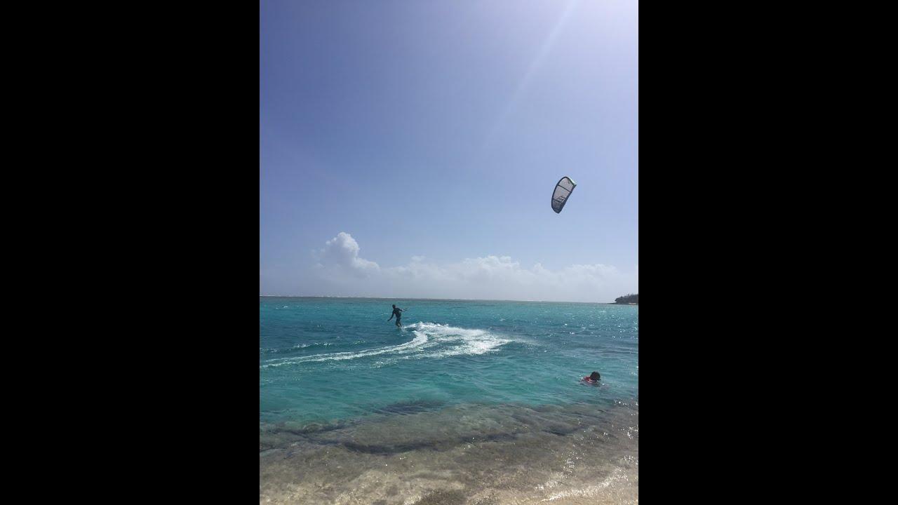 Kitesurfing at Mystery Island Vanuatu