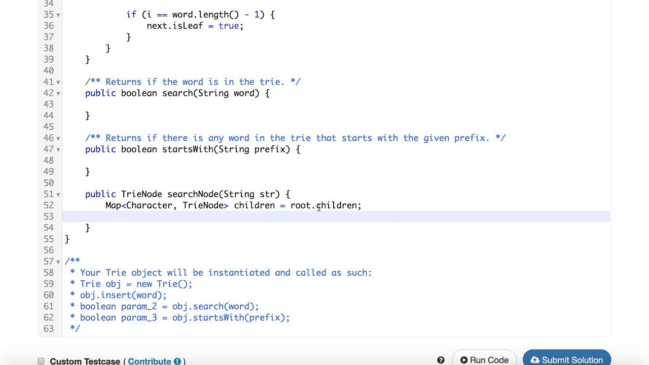 Leetcode 208 Implement Trie (Prefix Tree) Analysis & Implementation