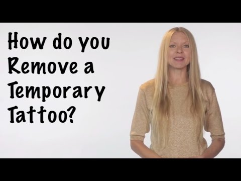 how do you remove a temporary tattoo youtube