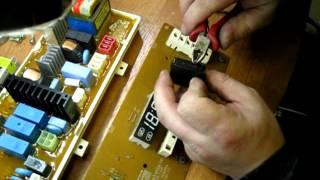 Ремонт электронного модуля, (блока) стиральной машины LG