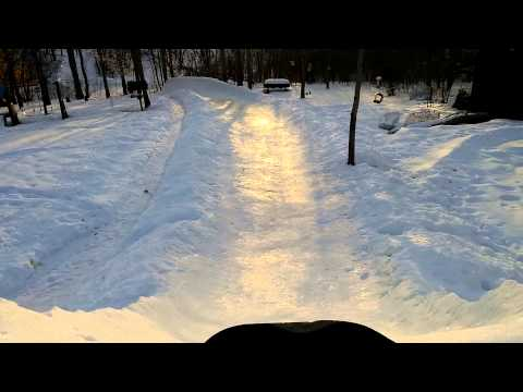 Monster Homemade Sled Riding Hill! 40+ Hours of Shoveling by Hand!