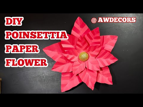 DIY Paper Poinsettia - Instagram Live Follow Along (AWDecors)