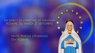 Rosaire du mardi 21 septembre, Fête de Saint Mathieu