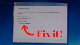 How to fix Windows 7 stuck at Completing installation