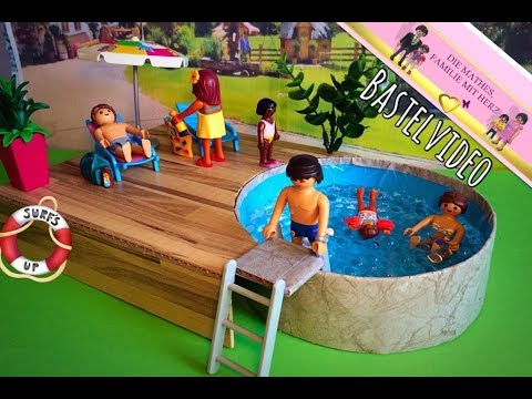 playmobil pool selber basteln pimp my playmobil youtube. Black Bedroom Furniture Sets. Home Design Ideas