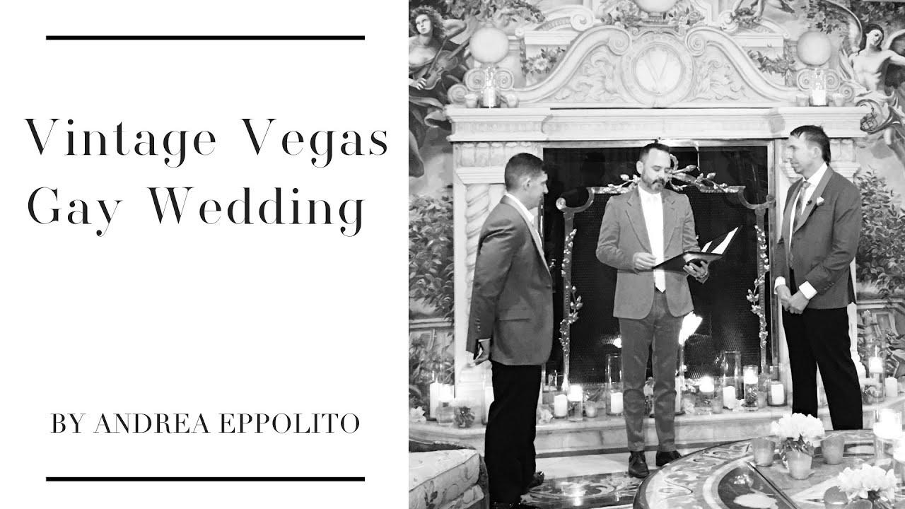 Vintage vegas wedding for two grooms gay wedding las for Gay wedding las vegas
