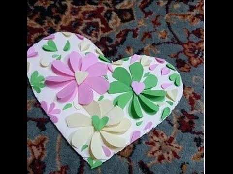 How To Diy Easy Paper Heart Flower Wall Art Diy Craft Project Tutorial