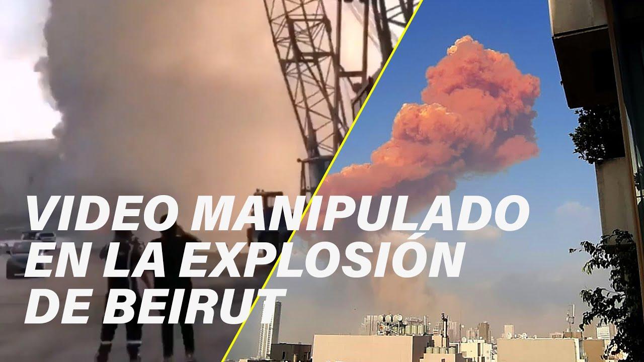 Este video que muestra un misil en la explosión de Beirut está manipulado
