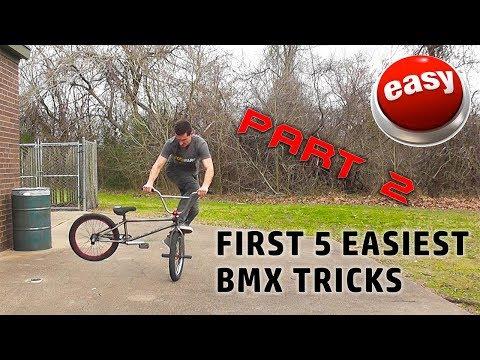 FIRST 5 EASIEST BEGINNER BMX TRICKS PART 2!