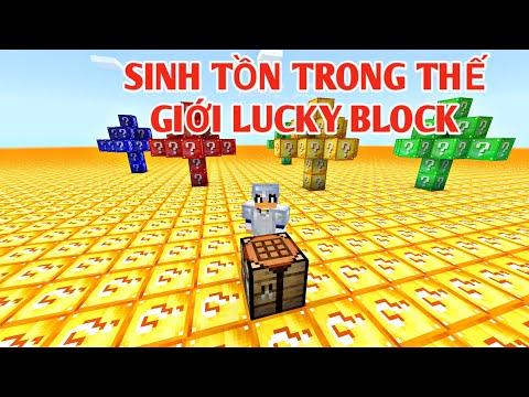 VHBOY Thử Thách Sinh Tồn 24h Trong Thế Giới Toàn Lucky Block !!!