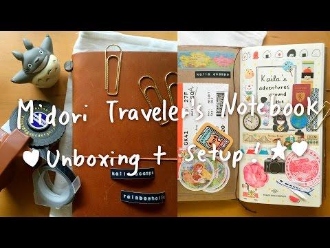 Midori Traveler's Notebook (ミドリトラベラーズノート) Haul + Setup 2016! 💙