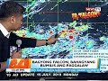 BT: Bagyong Falcon, bahagyang bumilis ang paggalaw