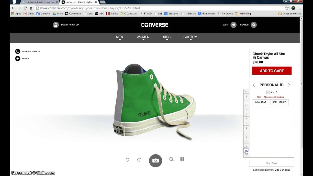 0453e7125a8e Converse.com International Shipping Design Your Own Custom Converse ...