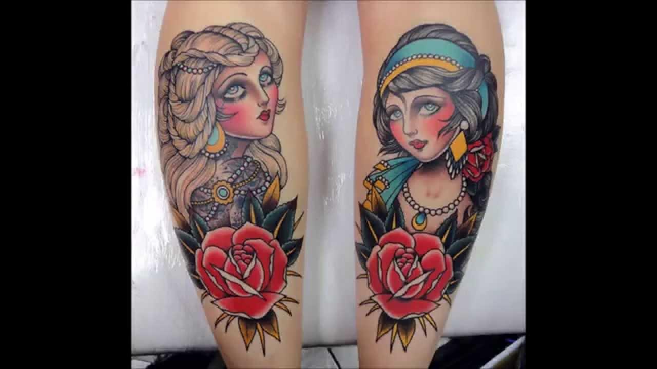Tatuajes De Rostros De Mujer Estilo Old School Youtube