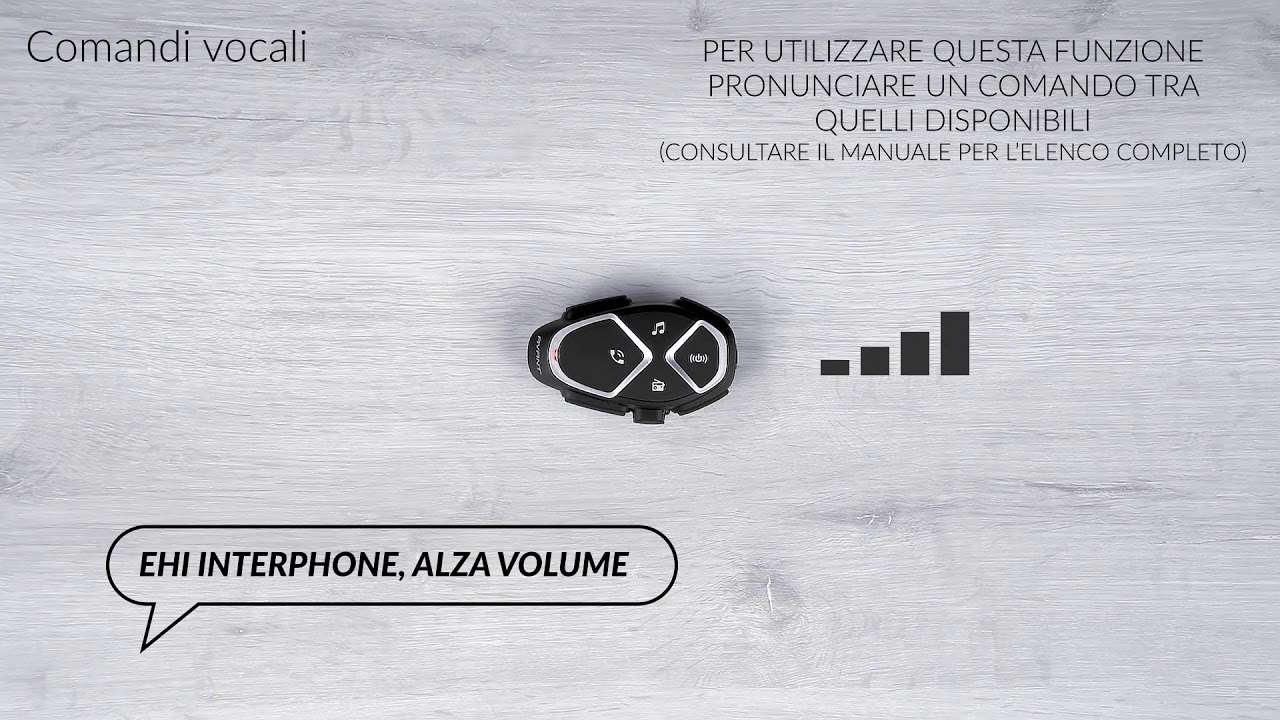 Interphone Avant, comandi vocali
