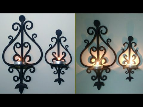 DIY - Candle Holder | Diya Stand | Wall hanging | Craft | By Punekar Sneha.