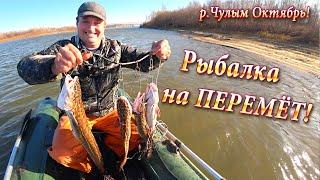 13.10.19г Очередная Проверка ПЕРЕМЁТА! Рыбалка на Перемёт, р.Чулым!