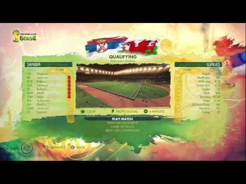 FIFA World Cup 2014 Brazil | Road to the FIFA World Cup-Serbia #1| Gameplay