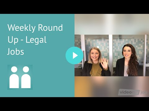 Weekly Round Up - Legal Jobs Melbourne