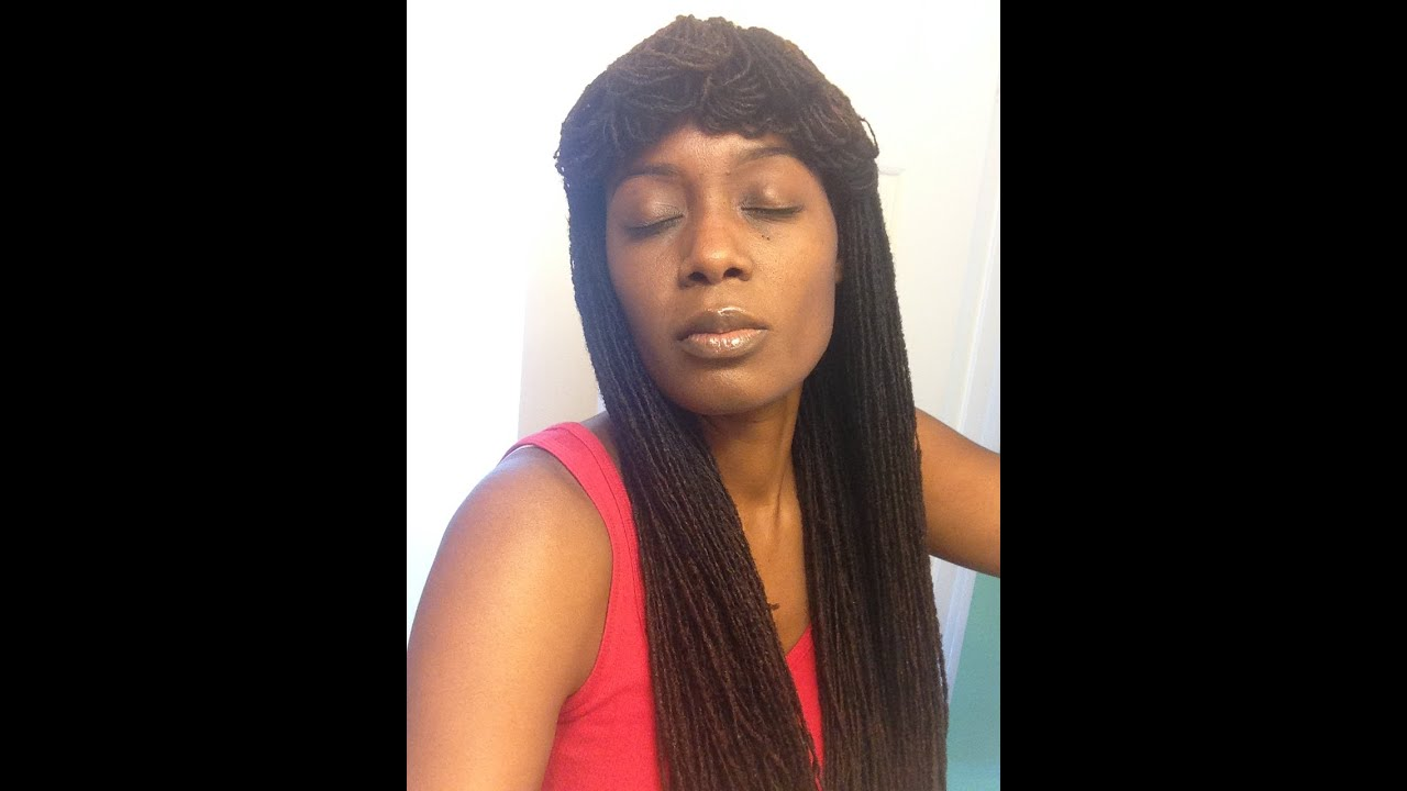 Sisterlocks Nicki Minaj - Cleopatra Inspired Hair Style (Loc Petal Bangs) - YouTube