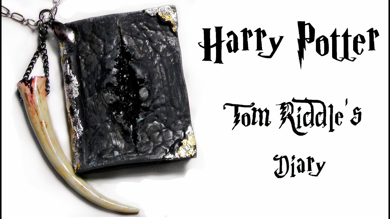 Polymer Clay Harry Potter Tom Riddle39s Diary YouTube
