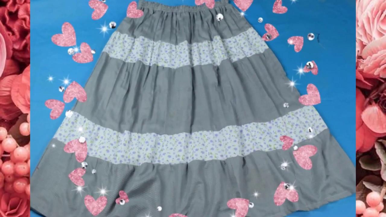 6bdec3e5a Hacer una falda larga para damas y señoras - Tutoriales de costura ...