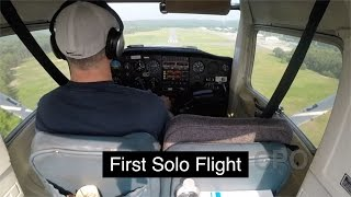 CPO First Solo Flight : Full Lesson : C152 : PPL : Private Pilot