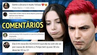 LENDO COMENTÁRIOS SOBRE MINHA NAMORADA