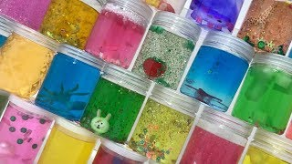 MIXING ALL MY CLEAR SLIME TOGETHER !! MOST SATISFYING SLIME VIDEOS - TOM SLIME