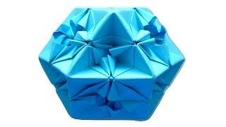 Оригами кубооктаэдр. Многогранник из бумаги. Cuboctahedron