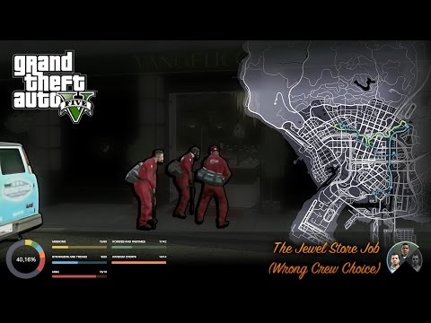 GTA V The Jewel Store Job - Wrong Crew Choice