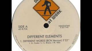 Different Elements - Different Words