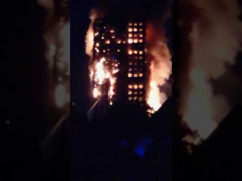 Grenfell tower completely gone! So many people died others unfounded!