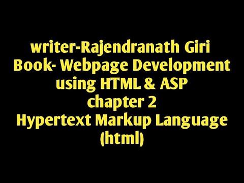 Vocational (E.T Department) Webpage Development (WPDV) HYPERTEXT MARKUP LANGUAGE (HTML)