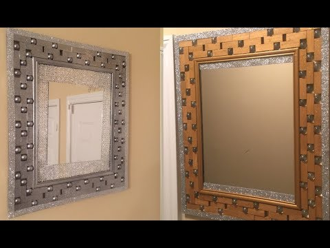 Dollar Tree DIY - 💕 Antique Gold/ Silver Wall Mirror💕