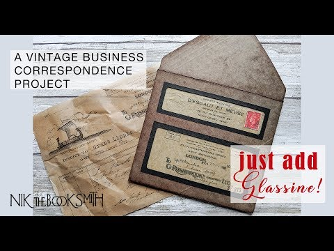 Just Add Glassine - a Vintage Business Correspondence project thumbnail