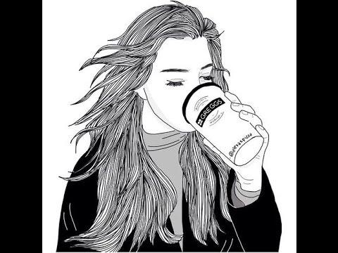 Girl Sketch On Coffee Drinks - YouTube